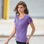 Anvil Women's Sheer V Neck Tee