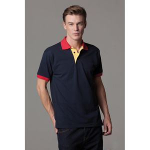 Contrast collar and placket polo Thumbnail