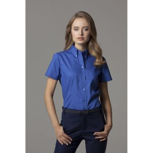 Women's corporate Oxford blouse short sleeved Thumbnail