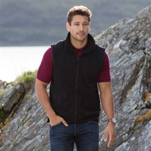 Sleeveless microfleece jacket Thumbnail