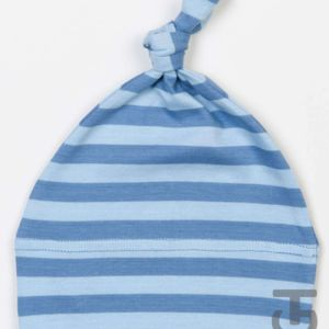 Baby stripy one-knot hat Thumbnail