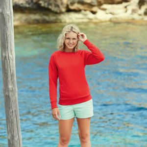 Lady-fit lightweight raglan sweatshirt Thumbnail