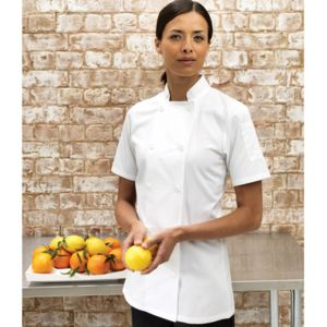 Women's short sleeve chef's jacket Thumbnail