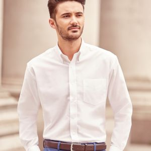 Russell Collection Long Sleeve Easy Care Oxford Shirt Thumbnail