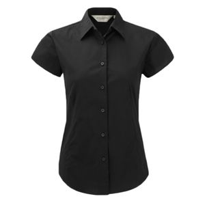 Russell Collection Ladies Short Sleeve Easy Care Fitted Shirt Thumbnail