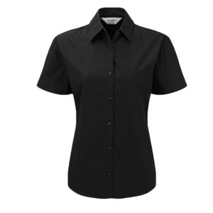 Russell Collection Ladies Short Sleeve Easy Care Cotton Poplin Shirt Thumbnail