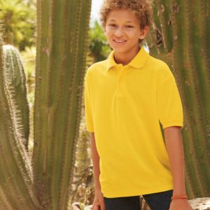 Fruit of the Loom Kids Poly/Cotton Piqué Polo Shirt Thumbnail