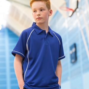 Finden and Hales Kids Performance Piped Polo Shirt Thumbnail