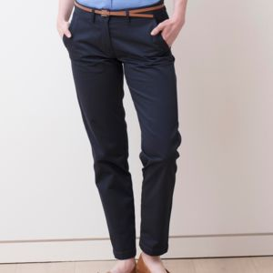 Henbury Lds 65/35 Flat Fronted Chinos Thumbnail