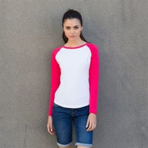 Women's long sleeve baseball t-shirt Thumbnail