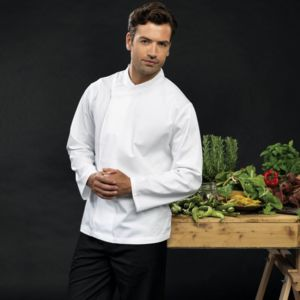 Culinary pull-on chef's long sleeve tunic Thumbnail