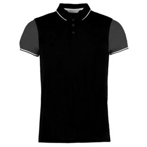 Kustom Kit Contrast Tipped Piqué Polo Shirt Thumbnail